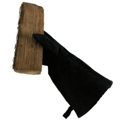 open haard handschoen zwart