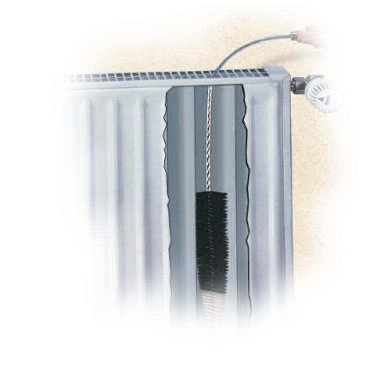 lange radiatorborstel