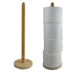 WC rollen standaard van hout