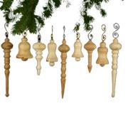 houten kerstornamenten