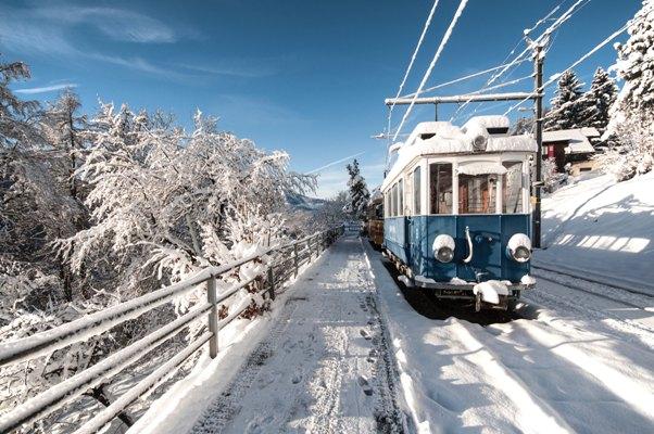 wintersport met de trein